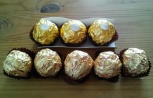 フェレロとピーナッツクランチチョコレート2